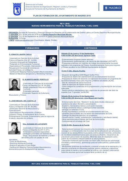Cartel curso Entrenamiento funcional